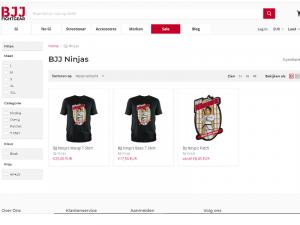 BJJ Ninjas producten op website BJJFightgear.com