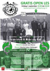Tai Chi School Bai Long / promotie folder 2017
