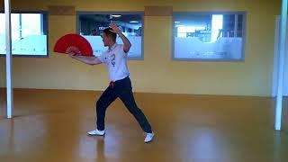 Yangstijl Tai Ji Waaier 18-vorm 杨式太极扇 18式 // van Yang Li // DEEL 2 VORM 10 T/M 18
