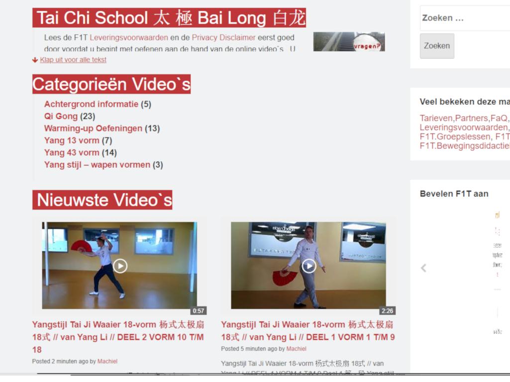 Je kan nu gedurende deze periode volledig gratis en vrijblijvend online trainen op F1T Video portaal