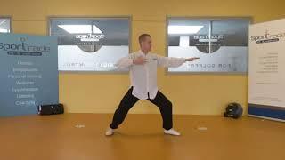 """Les 2 van 2 """"Principe van de 6 diamanten, juiste volgorde van bewegen van de ledematen (benen & armen), sturing vanuit je middel (Dantian en Ming-Men) waarbij het bovenlichaam rechtop dient te blijven in je bewegen)"""